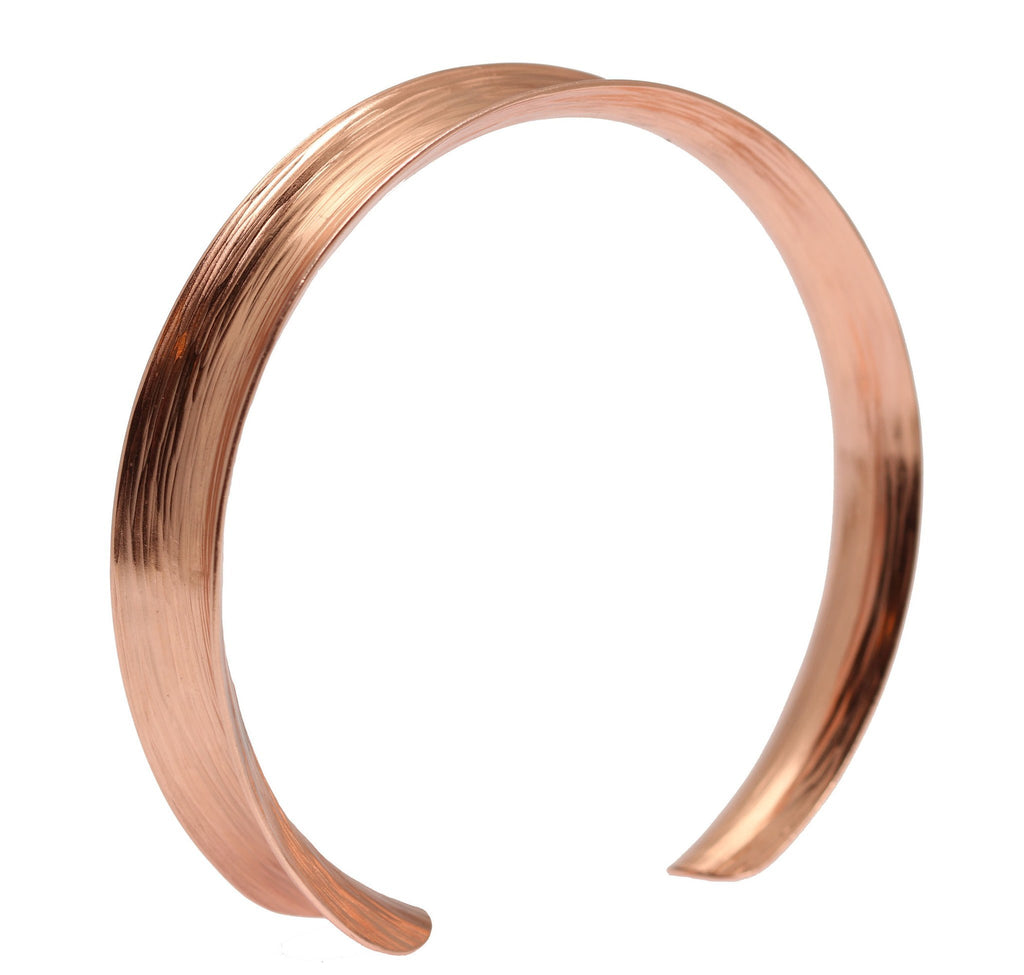 Anticlastic Bark Copper Bangle Bracelet - johnsbrana - 4