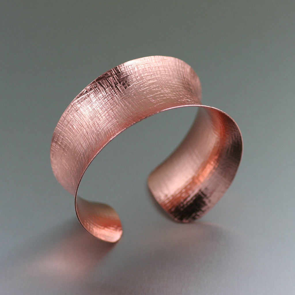 Anticlastic Linen Copper Bangle - johnsbrana - 1