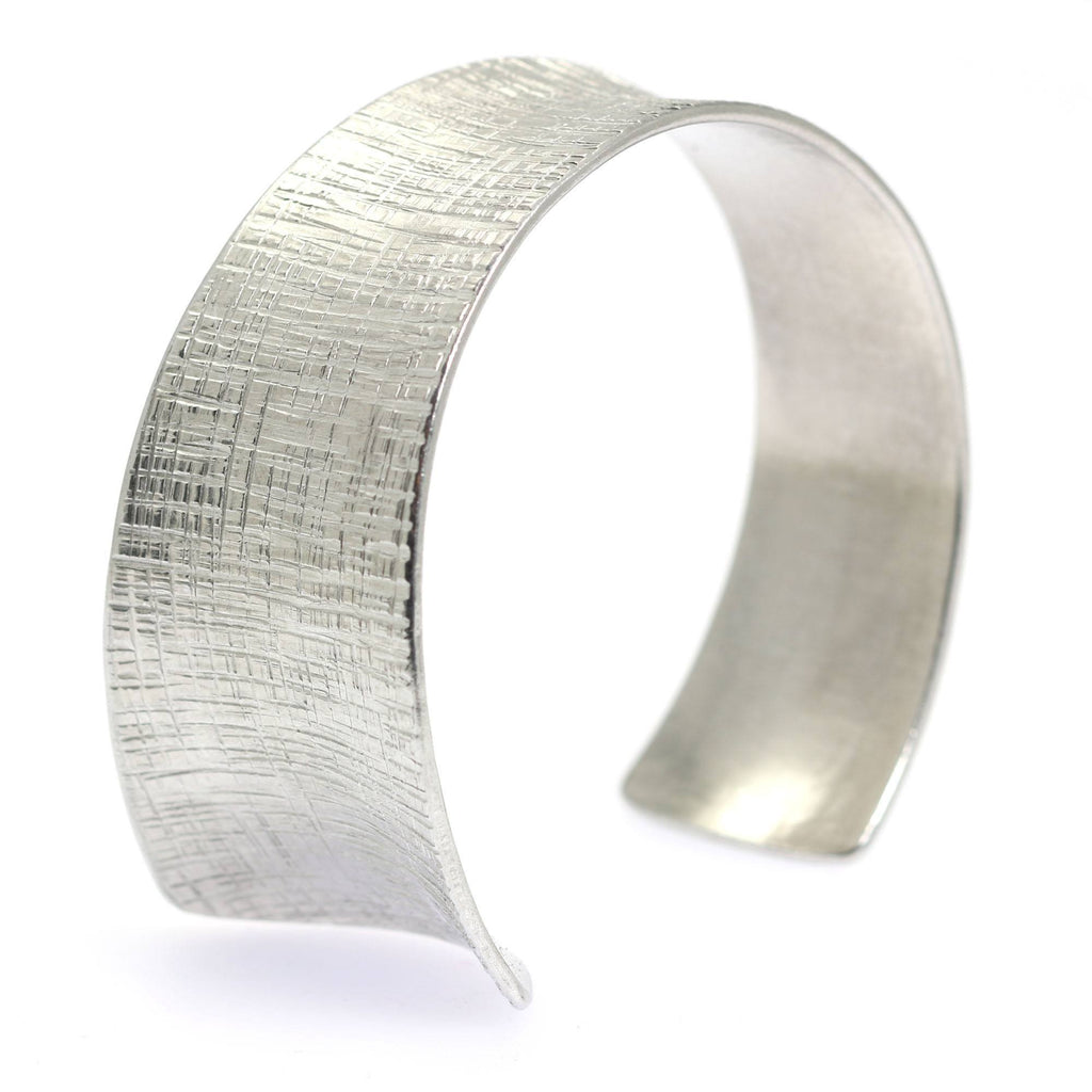 Anticlastic Tapered Linen Aluminum Bangle Bracelet - johnsbrana - 1