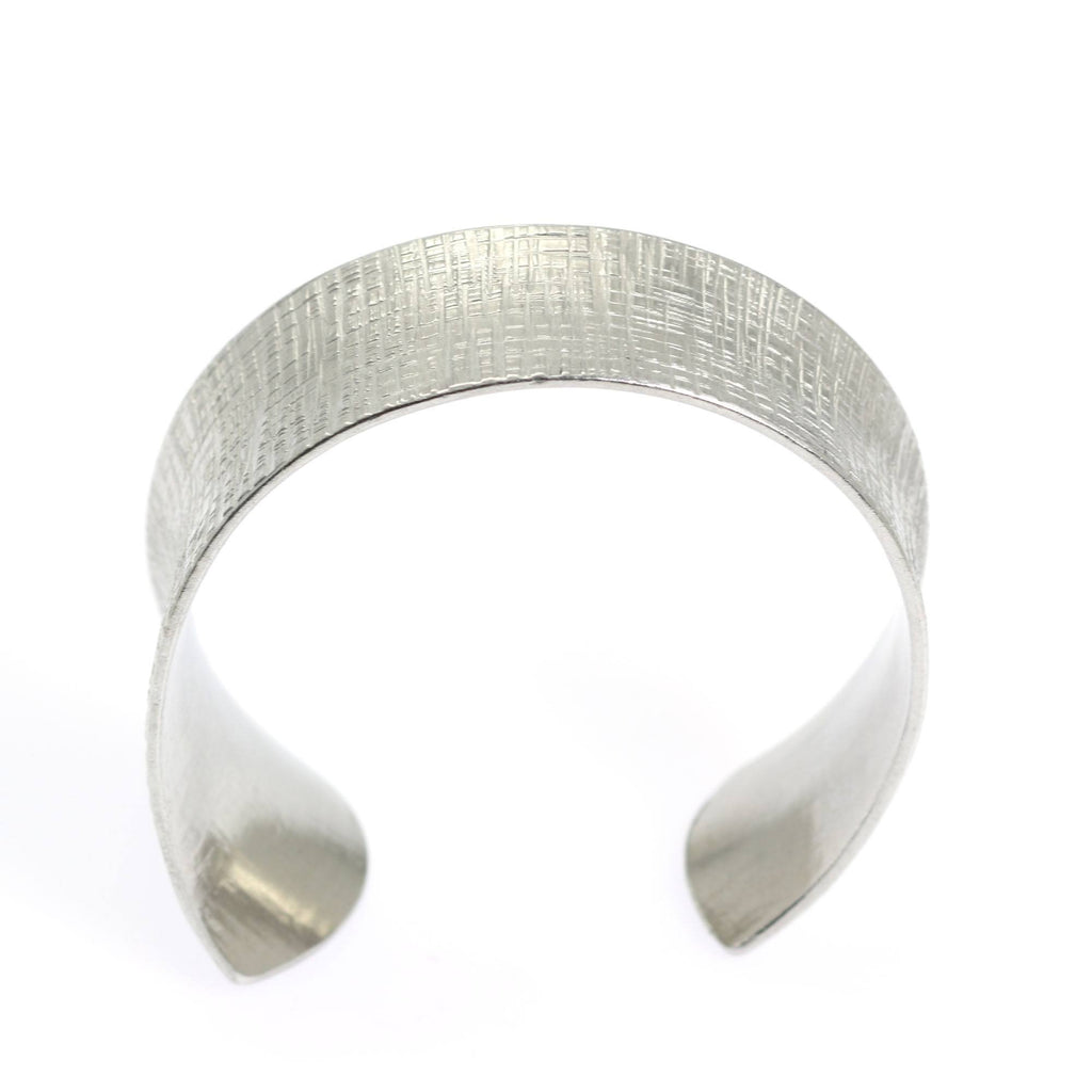 Anticlastic Tapered Linen Aluminum Bangle Bracelet - johnsbrana - 3