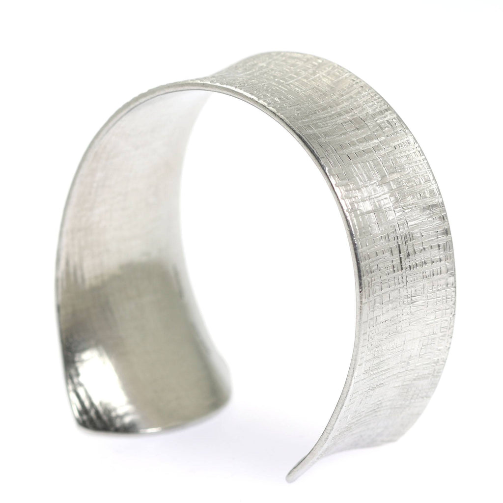 Anticlastic Tapered Linen Aluminum Bangle Bracelet - johnsbrana - 4