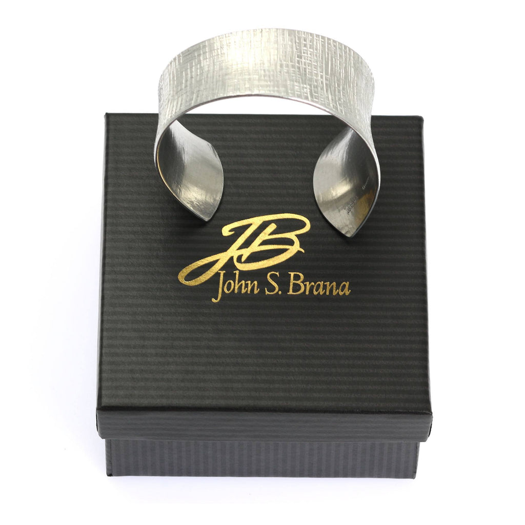 Bangles - Anticlastic Tapered Linen Aluminum Bangle Bracelet