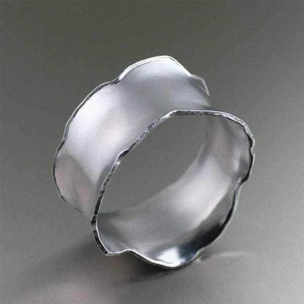 Brushed Aluminum Bangle Bracelet - johnsbrana