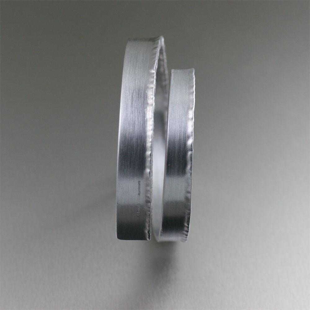 Brushed Aluminum Spiral Bangle Bracelet - johnsbrana - 2