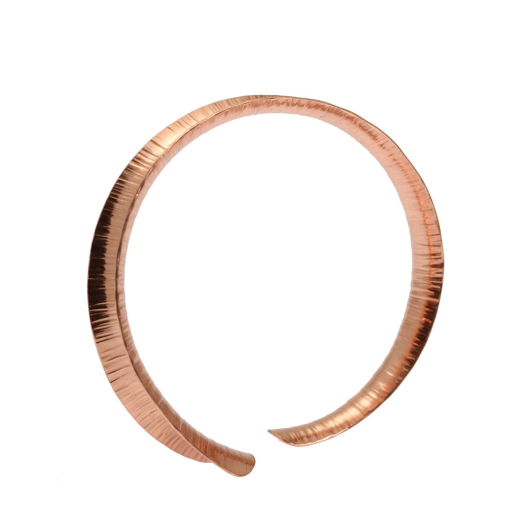 Chased Anticlastic Copper Bangle Bracelet - johnsbrana - 1
