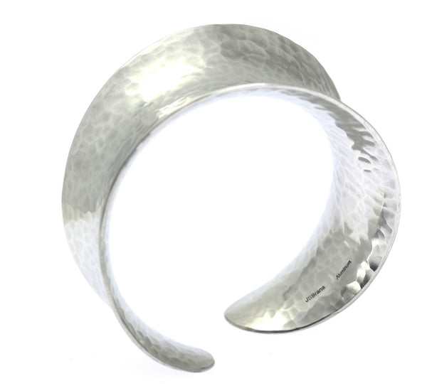 Hammered Aluminum Anticlastic Bangle - johnsbrana - 1