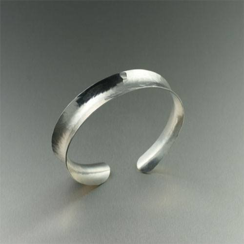Bangles - Hammered Silver Bangle Bracelet