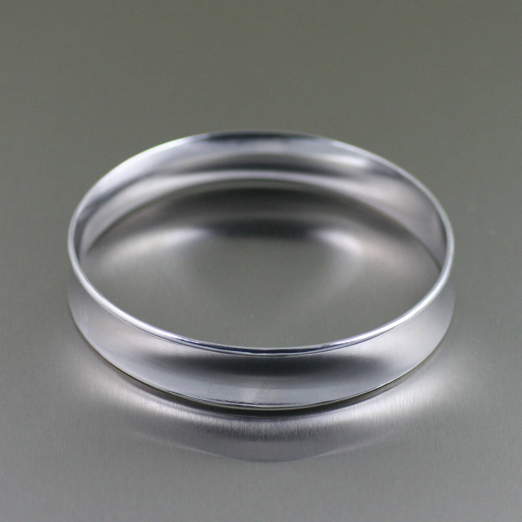 Polished Aluminum Bangle Bracelet - johnsbrana - 2