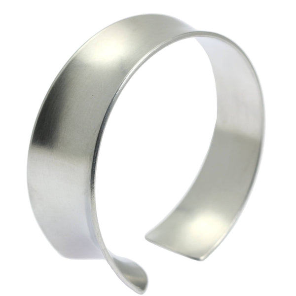 Tapered Brushed Anticlastic Aluminum Bangle Bracelet - johnsbrana - 1