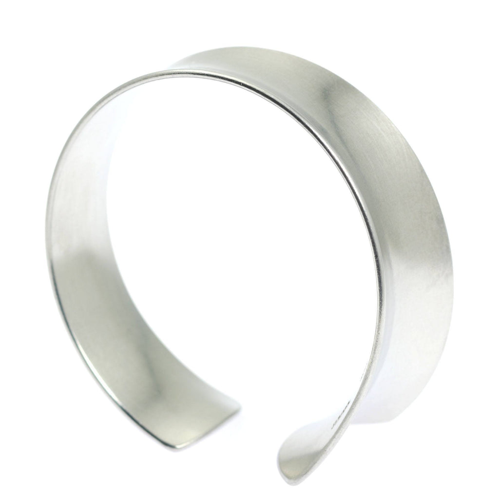 Tapered Brushed Anticlastic Aluminum Bangle Bracelet - johnsbrana - 2