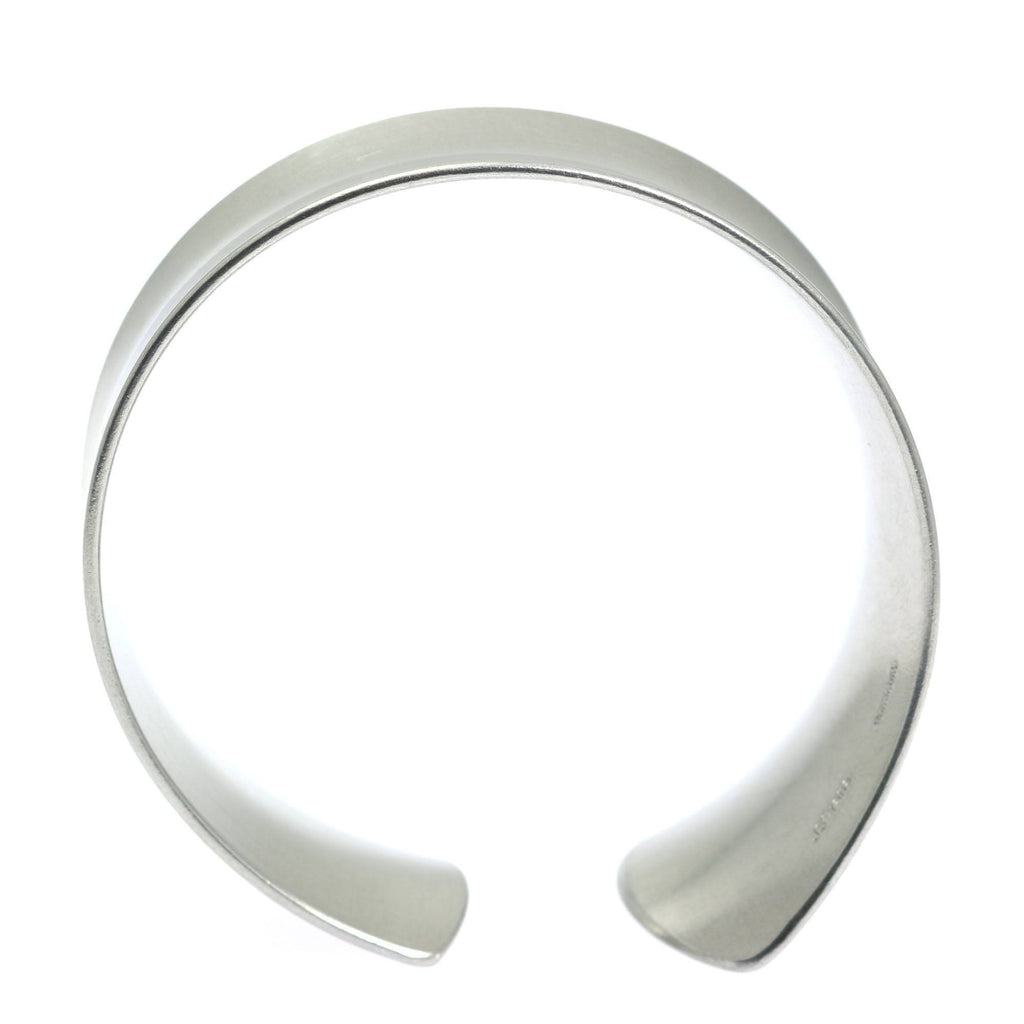 Tapered Brushed Anticlastic Aluminum Bangle Bracelet - johnsbrana - 4