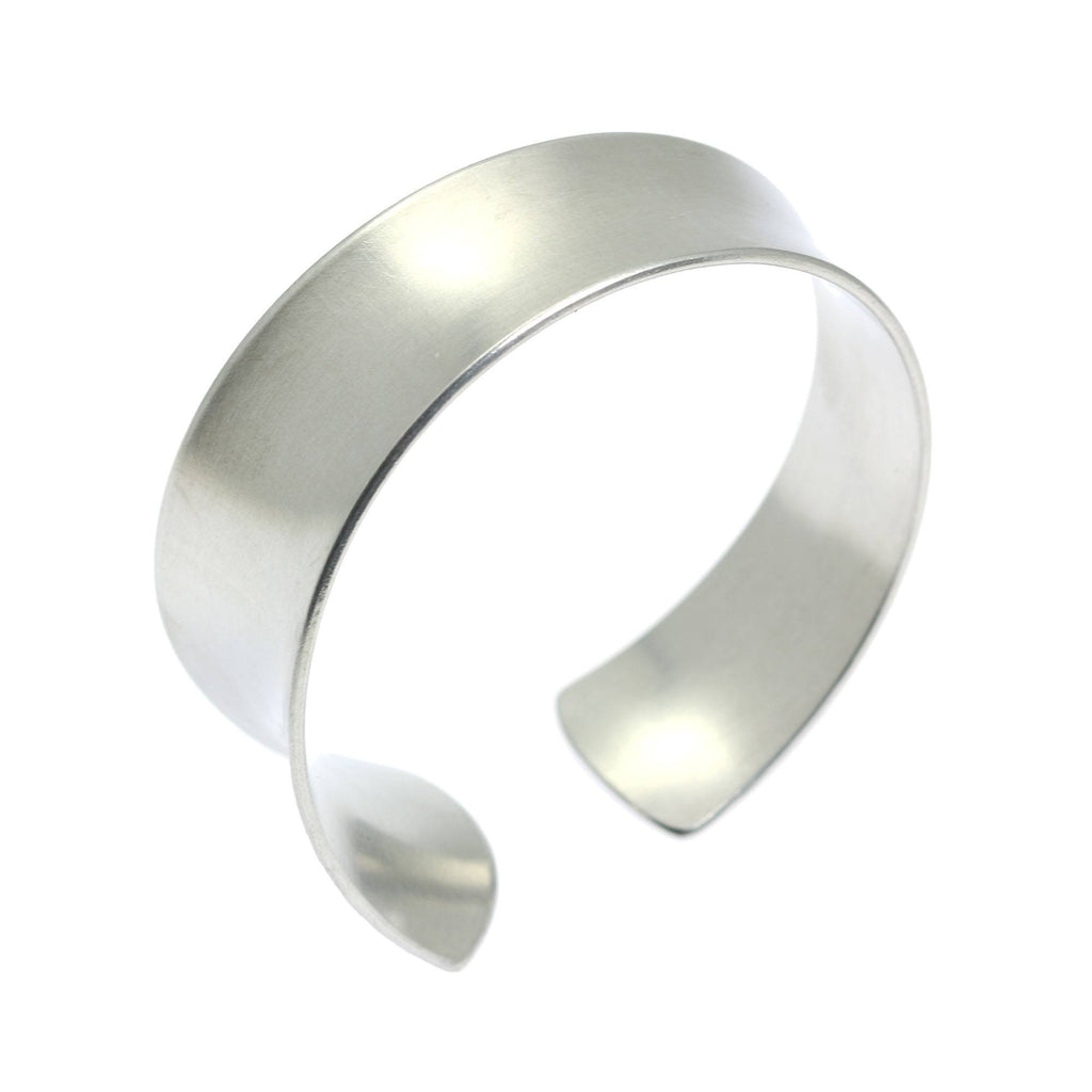 Tapered Brushed Anticlastic Aluminum Bangle Bracelet - johnsbrana - 5