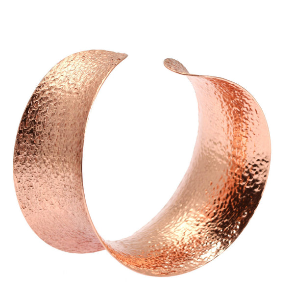 Texturized Anticlastic Copper Bangle Bracelet - johnsbrana - 1