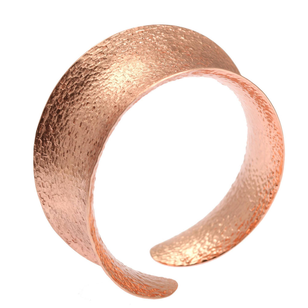 Texturized Anticlastic Copper Bangle Bracelet - johnsbrana - 4