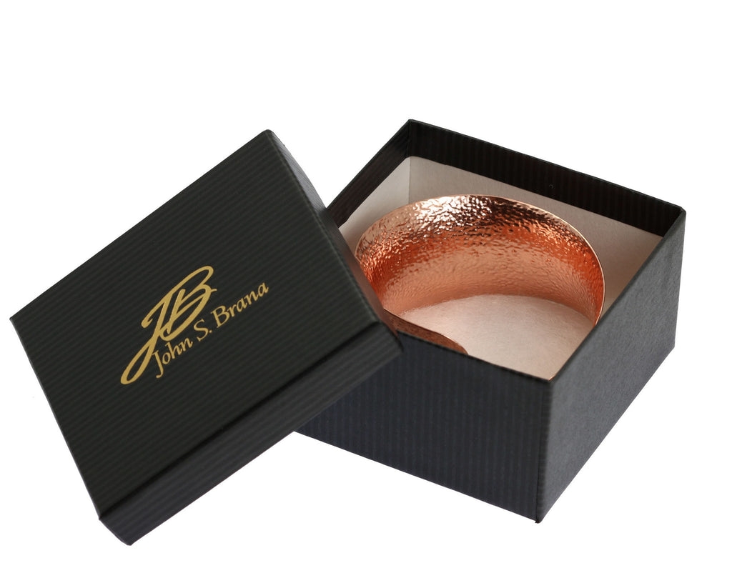 Texturized Anticlastic Copper Bangle Bracelet - johnsbrana - 7