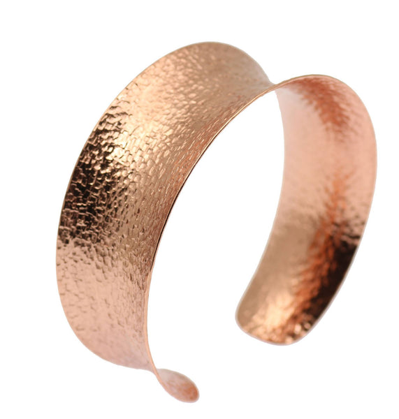 Texturized Copper Bangle Bracelet - johnsbrana - 1