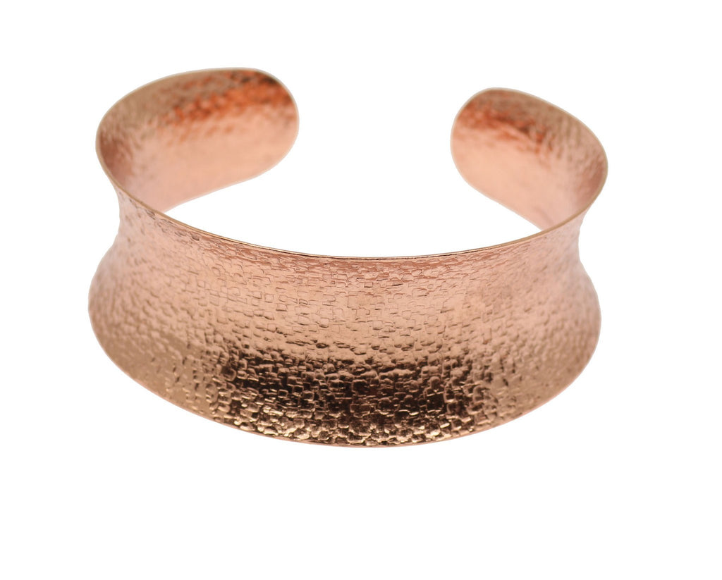 Texturized Copper Bangle Bracelet - johnsbrana - 2