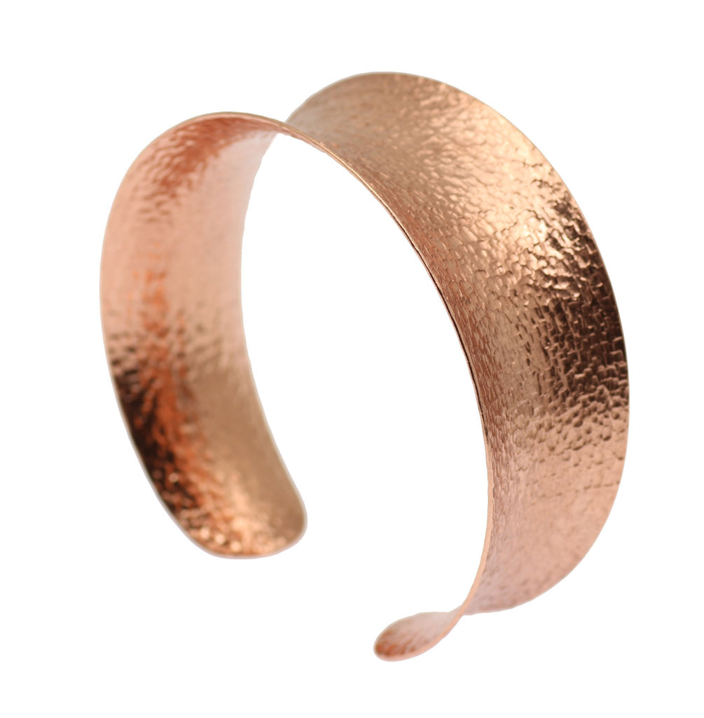 Texturized Copper Bangle Bracelet - johnsbrana - 4