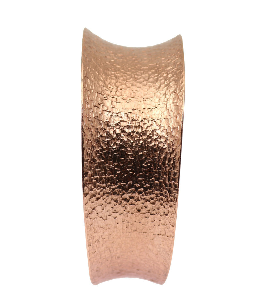 Texturized Copper Bangle Bracelet - johnsbrana - 5