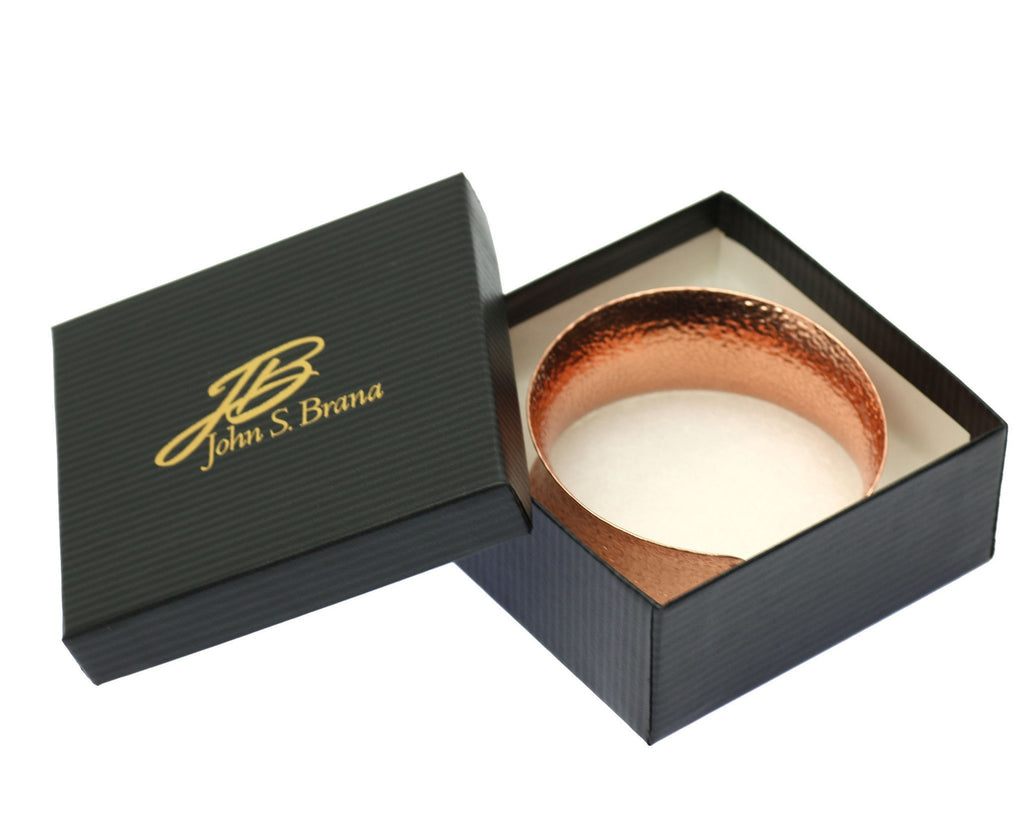Texturized Copper Bangle Bracelet - johnsbrana - 6
