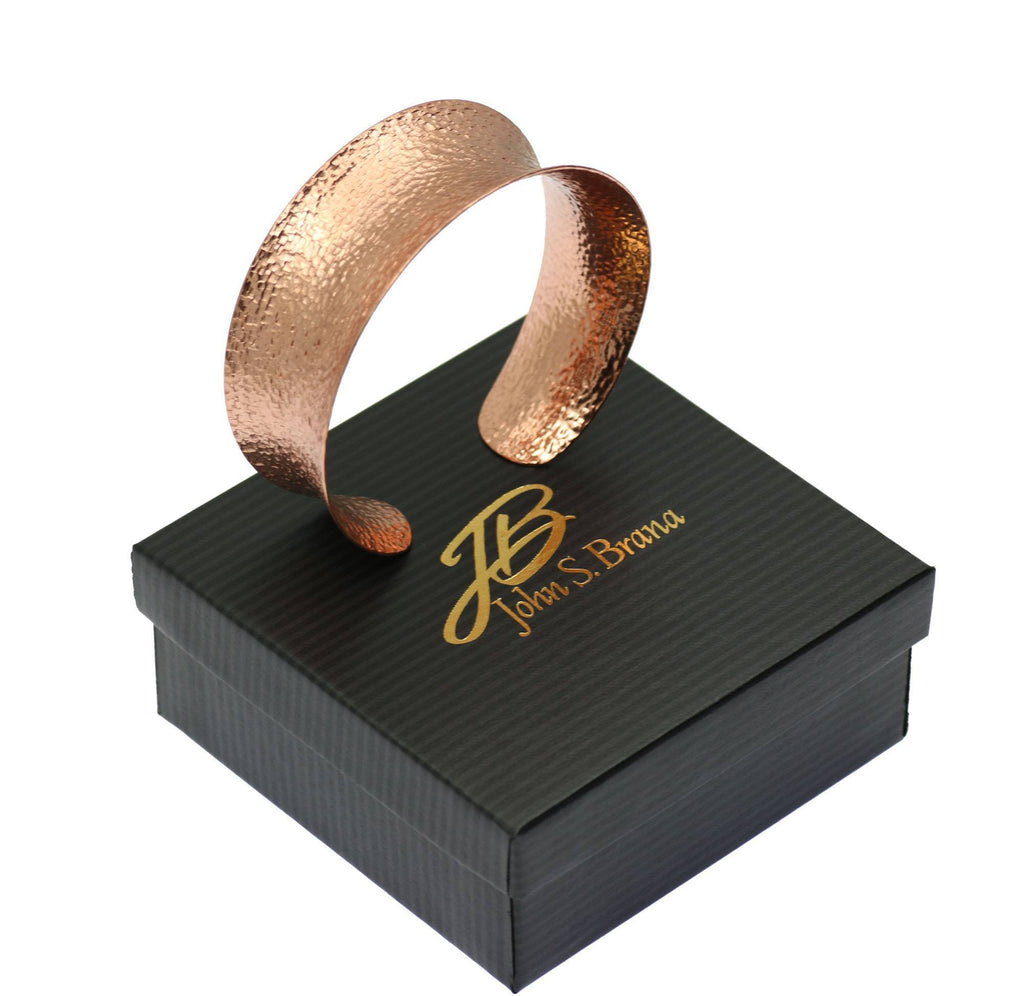 Bangles - Texturized Copper Bangle Bracelet