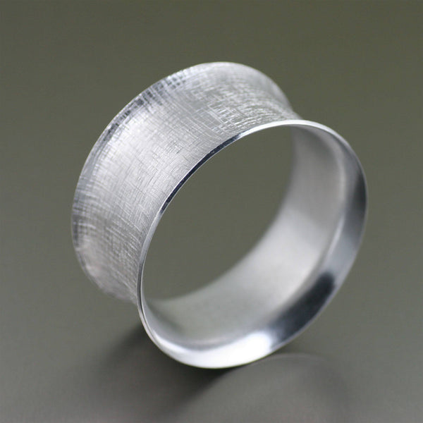 Wide Linen Aluminum Bangle Bracelet - johnsbrana - 1
