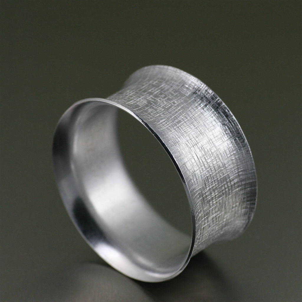 Bangles - Wide Linen Aluminum Bangle Bracelet