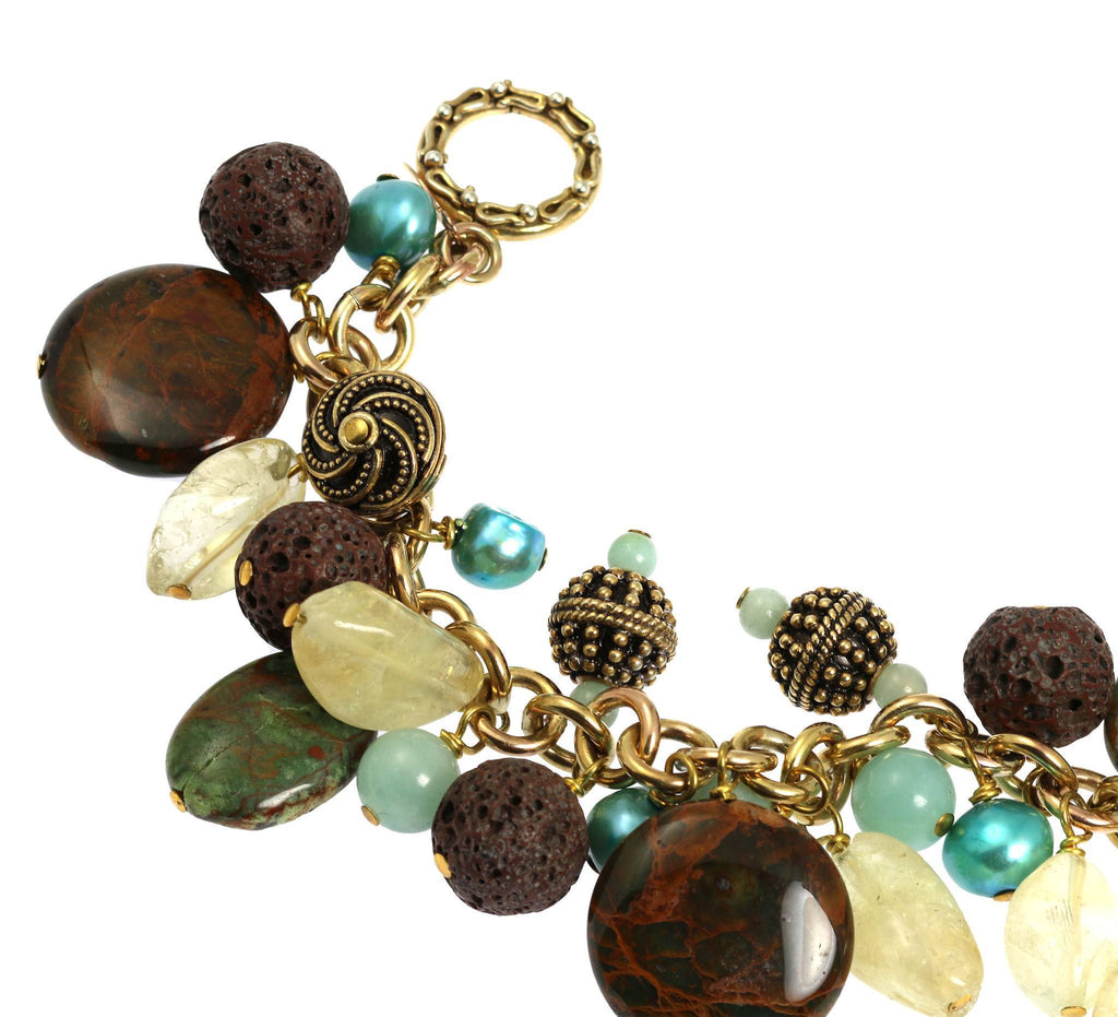 African Opal 14K Gold-filled Chain Maille Bracelet - johnsbrana - 3