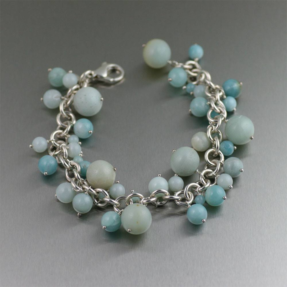 Amazonite Chain Maille Bracelet - johnsbrana - 1