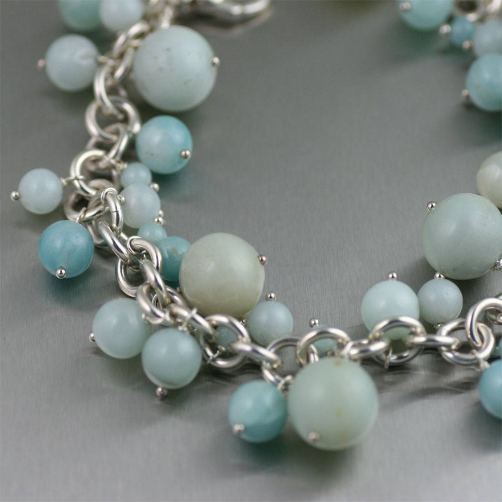 Amazonite Chain Maille Bracelet - johnsbrana - 2
