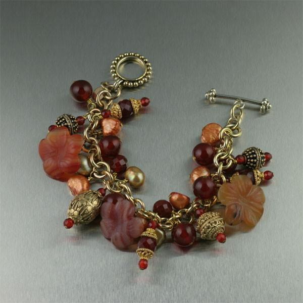 Carnelian 14K Gold-filled Chain Maille Bracelet - johnsbrana