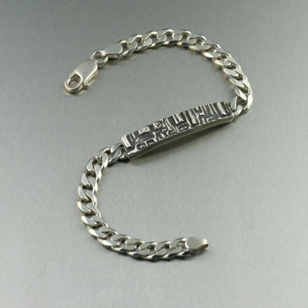 Oxidized Sterling Silver Men's Curb-link Bracelet - Tonga Collection - johnsbrana