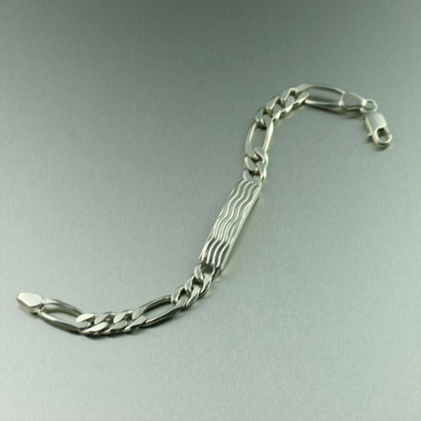 Bracelets - Sterling Silver Men's Curb-link Bracelet - Wave Collection