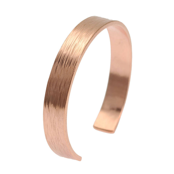 10mm Wide Bark Copper Cuff Bracelet - Solid Copper Cuff - johnsbrana - 1