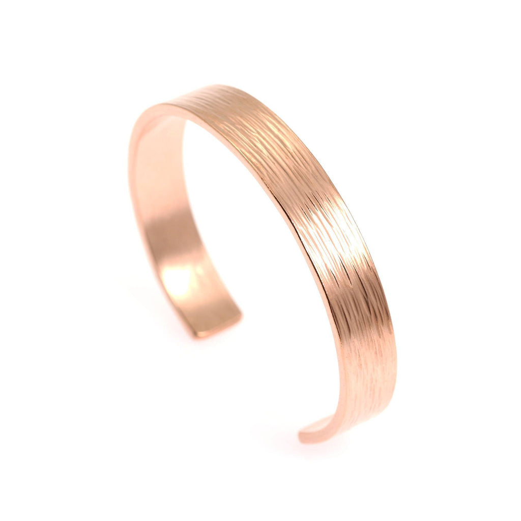 10mm Wide Bark Copper Cuff Bracelet - Solid Copper Cuff - johnsbrana - 2