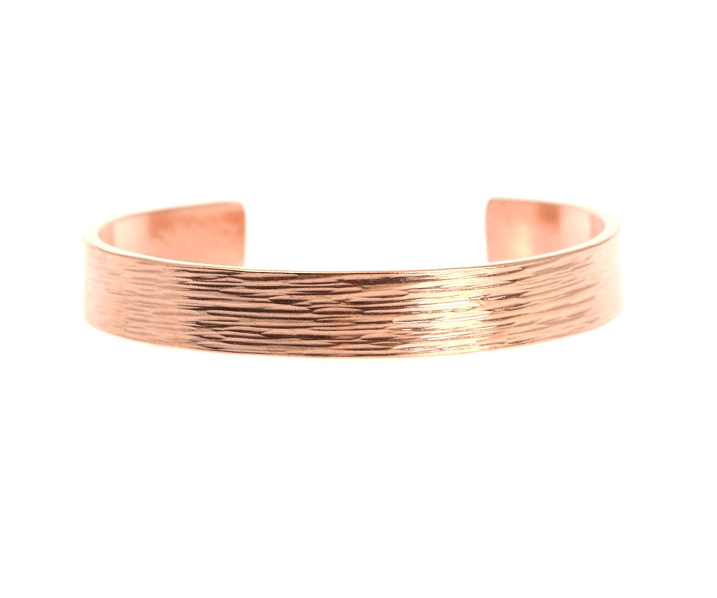 10mm Wide Bark Copper Cuff Bracelet - Solid Copper Cuff - johnsbrana - 4