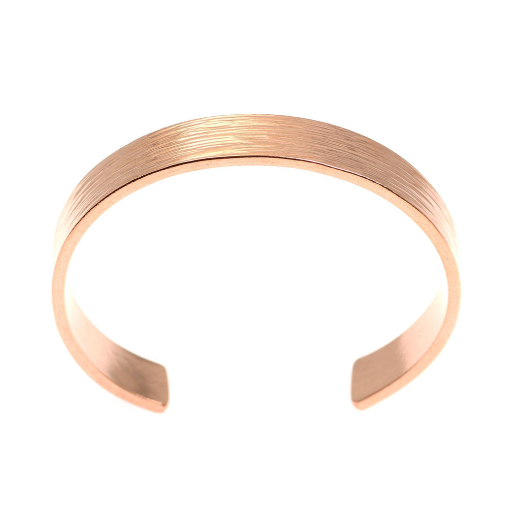 10mm Wide Bark Copper Cuff Bracelet - Solid Copper Cuff - johnsbrana - 5