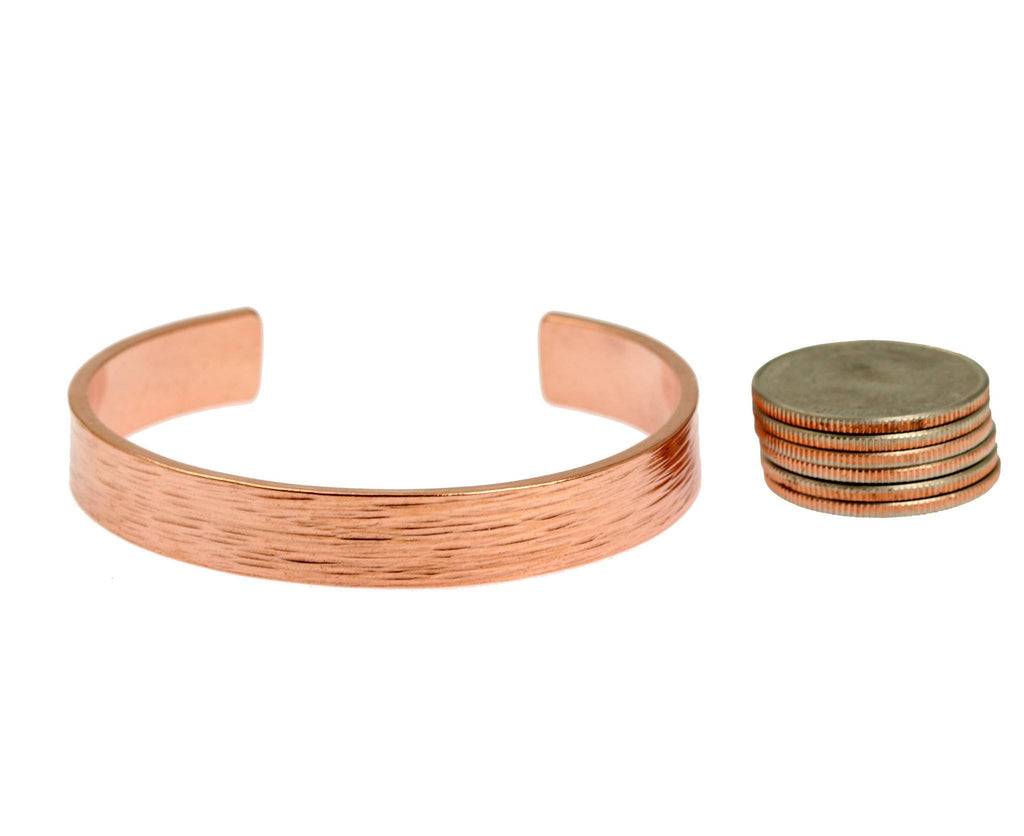10mm Wide Bark Copper Cuff Bracelet - Solid Copper Cuff - johnsbrana - 6