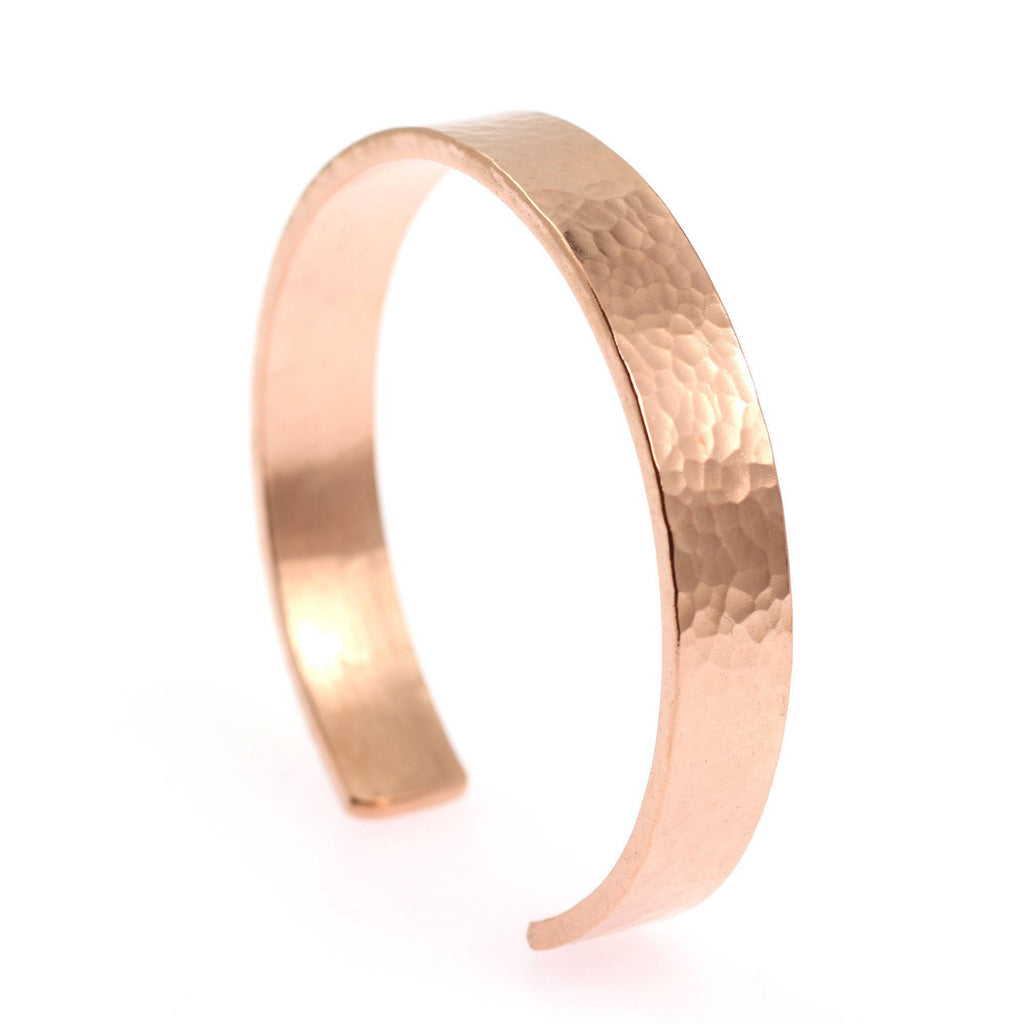 10mm Wide Hammered Copper Cuff Bracelet - Solid Copper Cuff - johnsbrana - 2