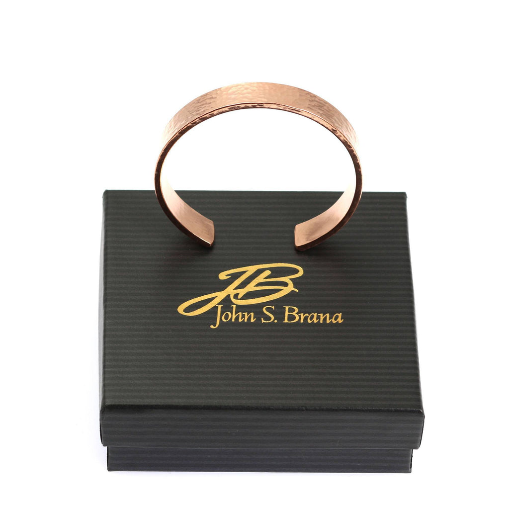 10mm Wide Hammered Copper Cuff Bracelet - Solid Copper Cuff - johnsbrana - 6