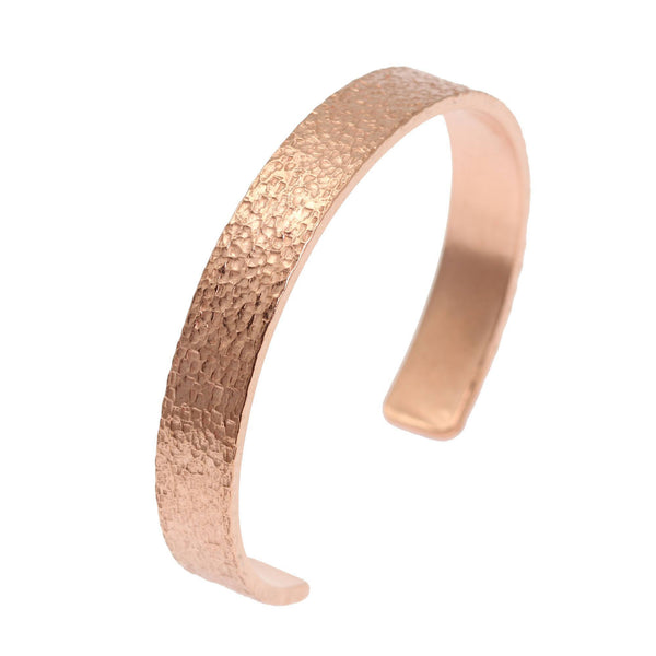 10mm Wide Texturized Copper Cuff Bracelet - Solid Copper Cuff - johnsbrana - 1