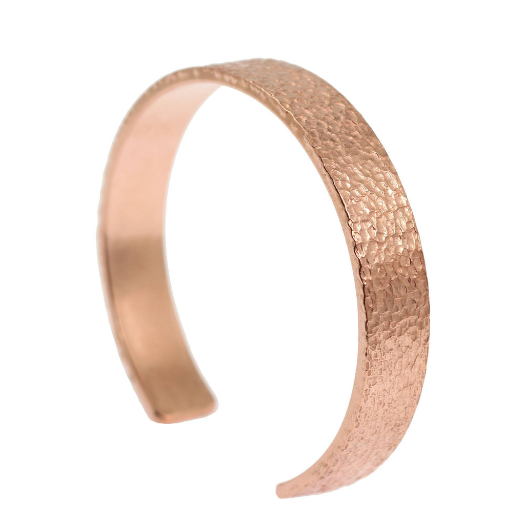 10mm Wide Texturized Copper Cuff Bracelet - Solid Copper Cuff - johnsbrana - 2