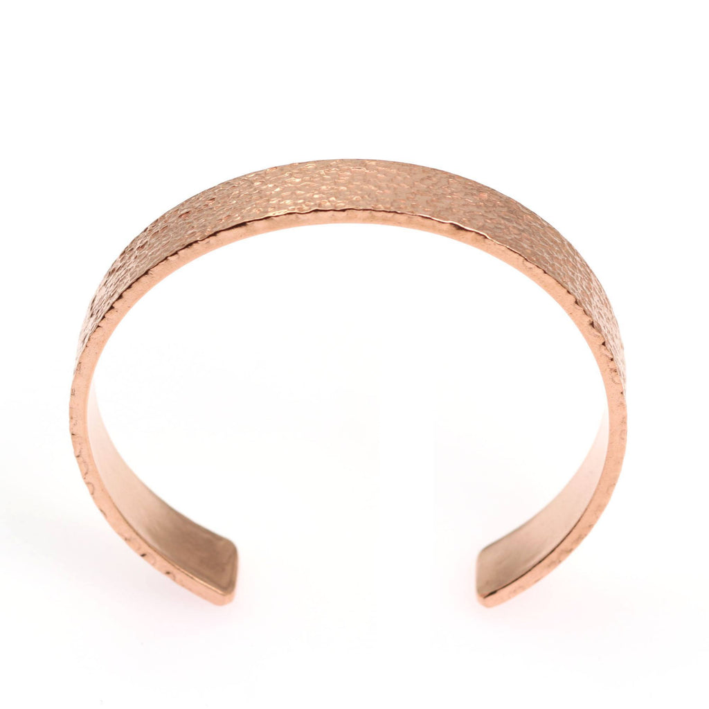 10mm Wide Texturized Copper Cuff Bracelet - Solid Copper Cuff - johnsbrana - 3