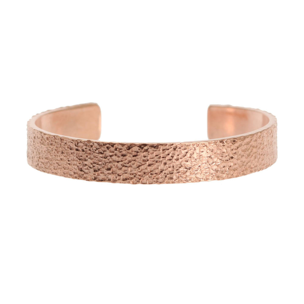 10mm Wide Texturized Copper Cuff Bracelet - Solid Copper Cuff - johnsbrana - 4