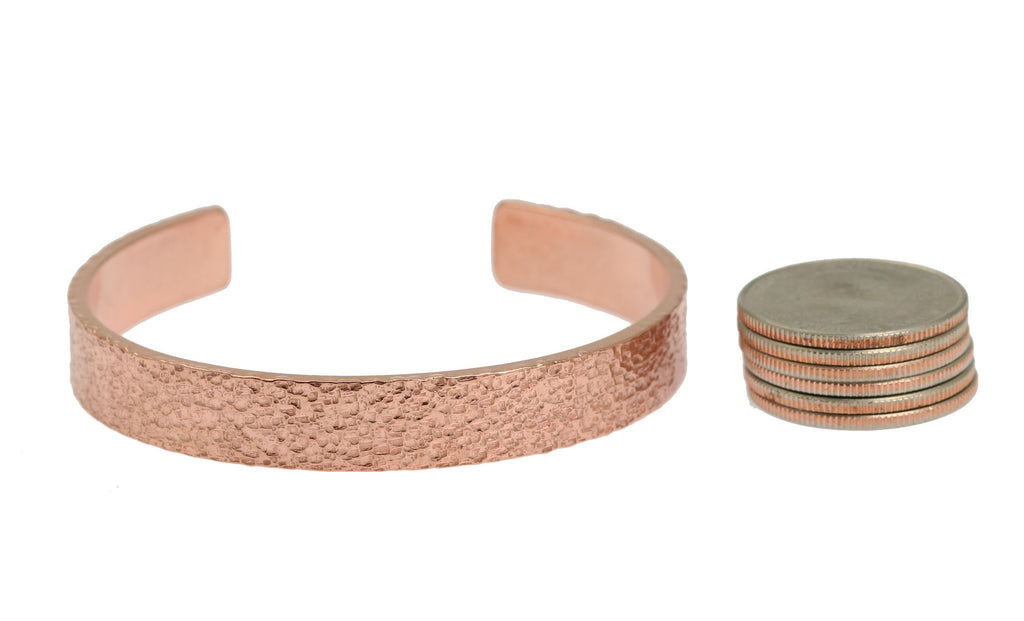 10mm Wide Texturized Copper Cuff Bracelet - Solid Copper Cuff - johnsbrana - 5