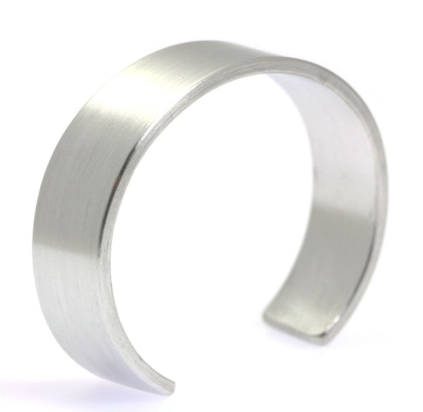 19mm Brushed Aluminum Cuff Bracelet - johnsbrana - 1