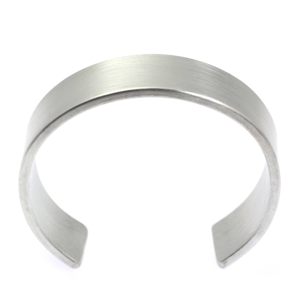 19mm Brushed Aluminum Cuff Bracelet - johnsbrana - 2