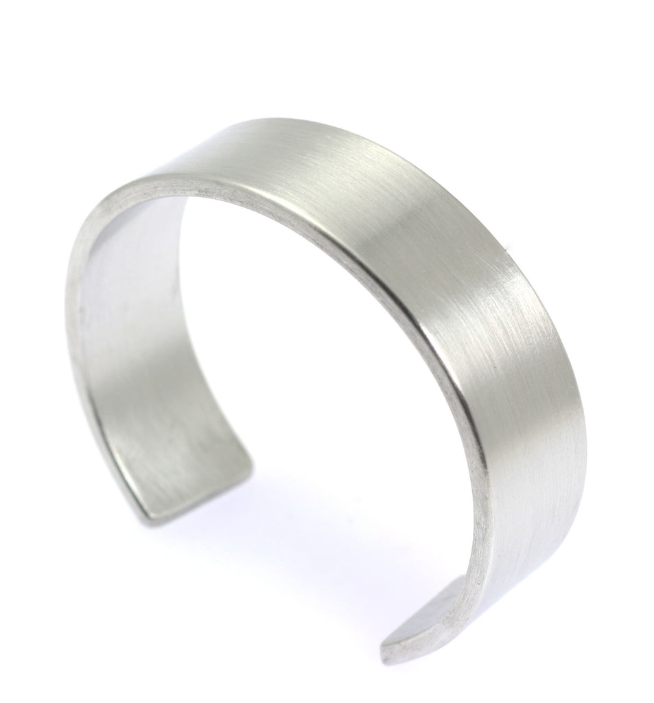 19mm Brushed Aluminum Cuff Bracelet - johnsbrana - 3