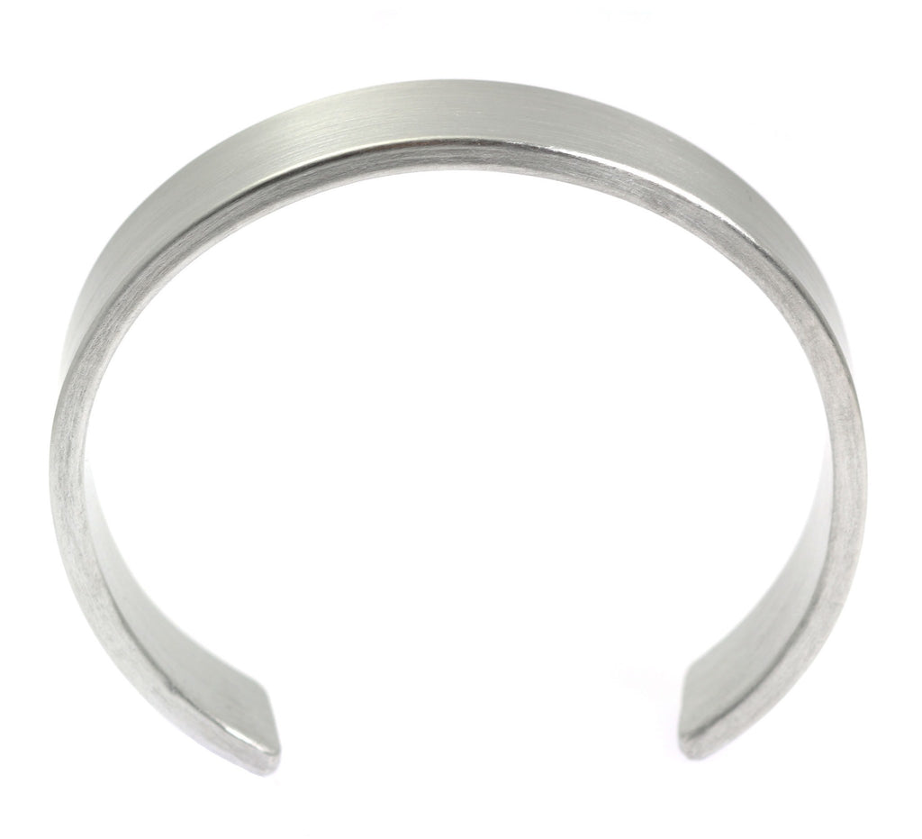 19mm Brushed Aluminum Cuff Bracelet - johnsbrana - 4