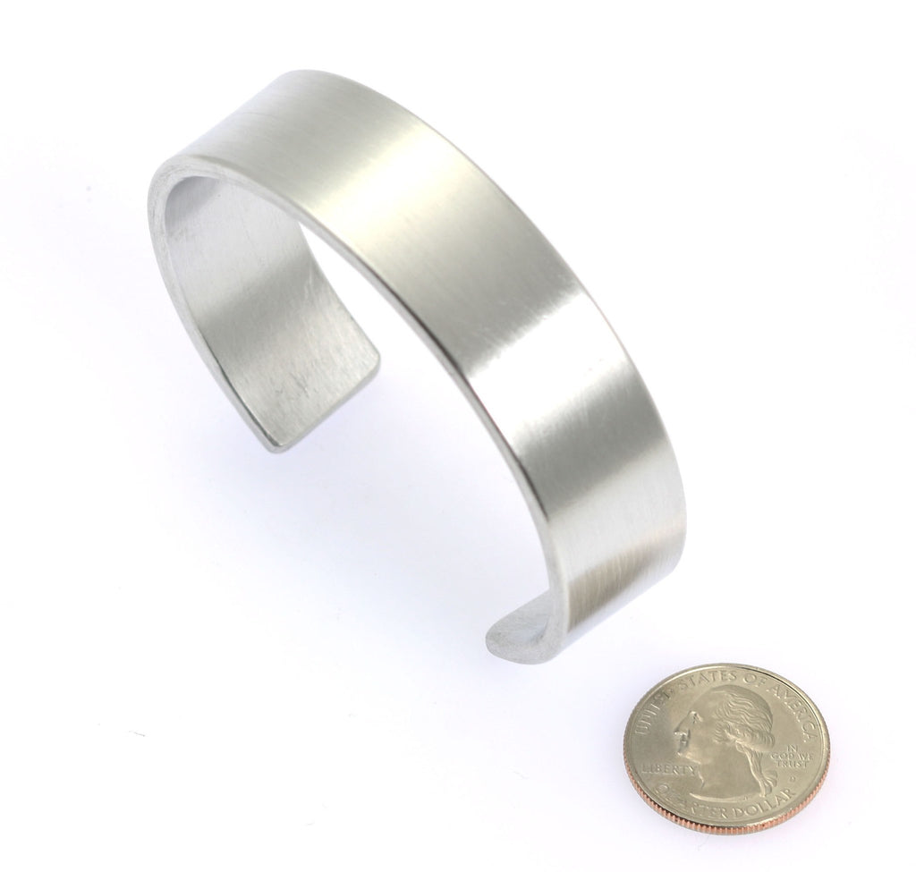 19mm Brushed Aluminum Cuff Bracelet - johnsbrana - 5